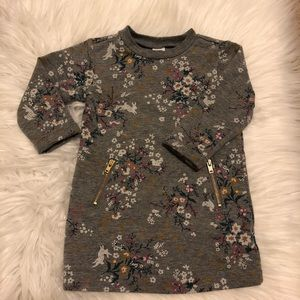 Old Navy Floral Zipper Dress